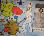 2020年疫情下护士节手抄报版面设计图