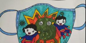 最美逆行者抗疫英雄儿童绘画作品