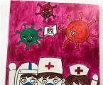 关于幼儿园疫情处理流程环创图精美